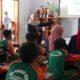 GIAT : Giat Sosialisasi Mitigasi Bencana di Mi Sunan Giri Ringinsari Sumawe. (H Mansyur Usman/Memontum.Com)