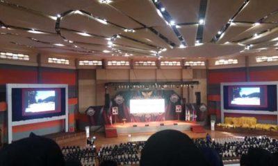 Pelepasan mahasiswa KKN UM di Graha Cakrawala Universitas Negeri Malang. (H MansyurUsman/Memomtum.Com)