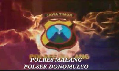 Gapura Polsek Donomulyo Semangat Gotong Royong Kemerdekaan