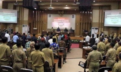 Penyampaian visi dan misi calon Wakil Bupati Malang dihadapan Bupati Malang. (Sur)