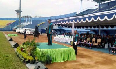 Bupati Malang Drs HM Sanusi MM Dalam Acara Apel HKN 2019.(sur)