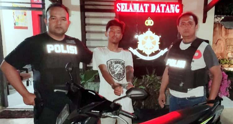 APES : Pagi mencuri, siang viral, malam ditangkap anggota Reskrim Polsek Singosari. (ist)