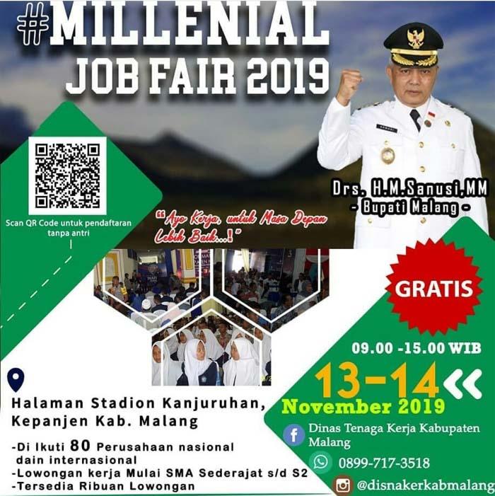 Milenial Job Fair 2019 80 Perusahaan Ribuan Loker Memontum Kabupaten Malang