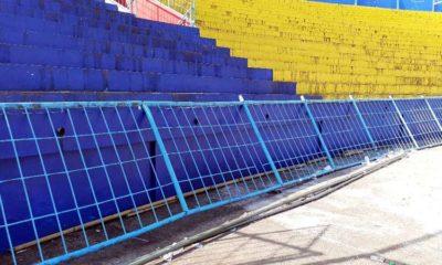Kondisi Pagar Stadion Kanjuruhan. (Sur)