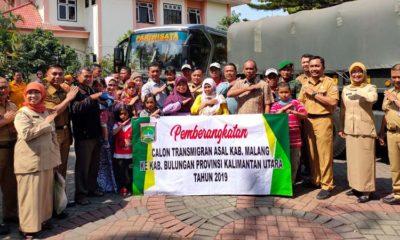 Prosesi Pemberangkatan Transmigasi Kabupaten Malang ke Kalimantan Utara. (Ist)