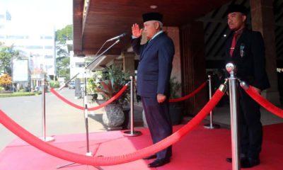 Bupati Malang Drs HM Sanusi MM, Pimpin Upacara PHI di Pendopo Agung Kota Malang. (sur)