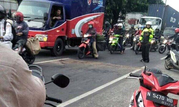 kejadian di Jalan Pangsud Singosari. (ist)