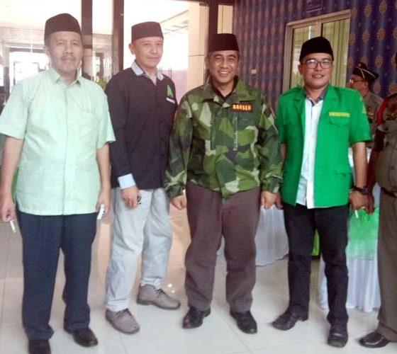 Kasatkorwil Banser Jawa Timur Irsyad Yusuf Bersama Ketua Dewan Penasehat PC GP Ansor Kabupaten Malang, Hasan Abadi. (ist)