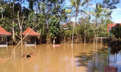 Genangan Air di MTsN Malang. (sur)