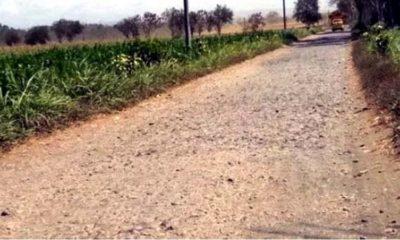 Jalan Rusak di Dusun Sumbersari. (sur)