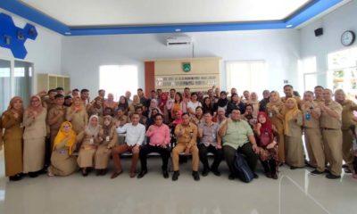 Keluarga Besar Disnaker Kabupaten Malang Bersama Tamu Undangan. (Ist)