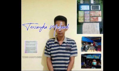 Tersangka dan barang bukti serta penangkapan sesuai standar pencegahan Corona. (Humas Polres Malang)