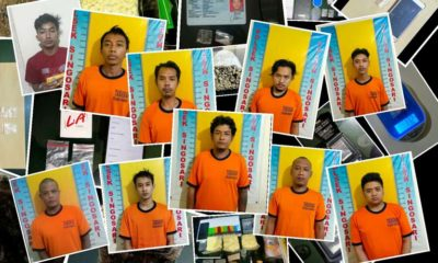 Foto-foto tersangka yang terlibat peredaran narkoba jenis Sabu (SS). (Humas Polres Malang)