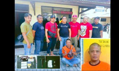 Tarwi di Polsek Singosari usai penangkapan dan penggeledahan. (Humas Polres Malang)