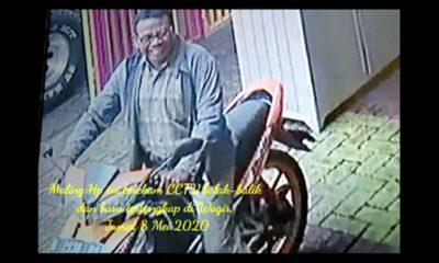 Maling HP Gemuk Tua Berkacamata Terekam CCTV Tertangkap di Wagir !