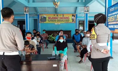 JELITA : Sosialiasi Pembayaran Pajak di Kampung Tangguh Slorok Kromengan. (Humas Polres Malang)