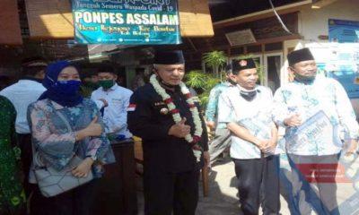 Kunjungan Bupati Malang Drs HM Sanusi MM di Ponpes Tangguh Assalam Desa Rejoyoso. (ist)