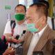 Jhon Kenedi Ketua Balai Besar Taman Nasional Bromo Tengger Semeru saat diwawancarai awak media