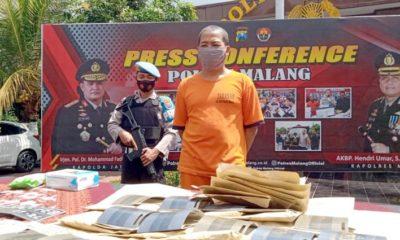 RILIS : Polres Malang merilis hasil ungkap kasus pemalsuan BPKB dan STNK. (memo x/cw3)