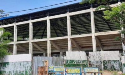 Bangunan mangkrak di kawasan Stadion Kanjuruhan.