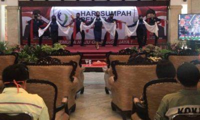 Peringatan ke 92 Hari Sumpah Pemuda (HSP) yang digelar di Pendopo Agung Kabupaten Malang.