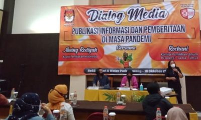 Dialog KPU bersama media di Bess Resort dan Waterpark Lawang.