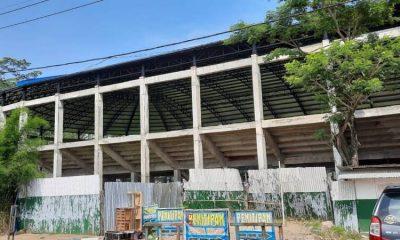 Fasilitas olah raga milik Pemkab Malang yang mangkrak.