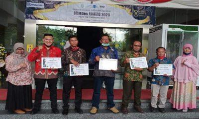 Ke lima BUMDes asal Kabupaten Malang yang dapat penghargaan dalam ajang BUMDes Award 2020 yang digelar dalam rangka Dies Natalis ITS.