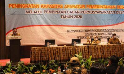 Kegiatan pembinaan BPD yang digelar oleh DPMD Kabupaten Malang.