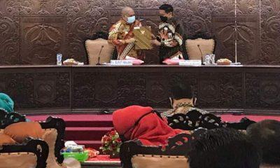 Pejabat sementara (Pjs) Bupati Malang, Sjaichul Ghulam saat menggelar kegiatan tatap muka dengan seluruh OPD Kabupaten Malang.