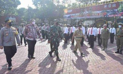 Bupati Malang Pimpin Apel Gelar Pasukan Operasi Ketupat Semeru 2021